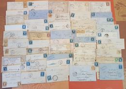 France - Lot De 50 Lettres Classiques  - DEPART 1 EURO - 1849-1876: Classic Period