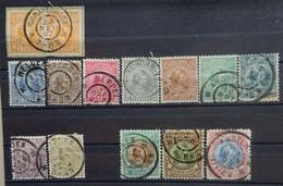 NEDERLAND  1891      Nr. 34 - 43  /  45 - 47        Gestempeld      CW  300,00 - Period 1891-1948 (Wilhelmina)