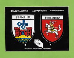 BURG DITM . DITHMARSCHEN.  Blason Autocollant. - Germany