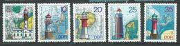 Allemagne Orientale - DDR -  Série Yvert N° 1724 à 1728 **  5 Valeurs Neuves Sans Charnière - PA 19706 - Unused Stamps