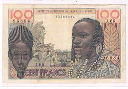 TOGO    BILLET  DE 100   FRANCS  N°96884  20 MAI 1957                            BI65 - Togo