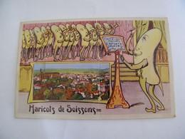 CPA - Soissons (02) . - Carte à Système - 10 Vues  - Haricots - 1930 - SUP (DT 4) - Soissons