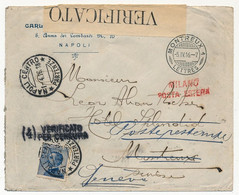Italie - Enveloppe Depuis Naples 1916, Censurée, Pour Montreux, Réexpédiée à Genêve - Storia Postale