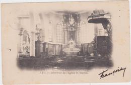 Ath - Binnenzicht Van De Kerk (Uitg.: Mottrie Soeurs) (gelopen Kaart Van Voor 1900 Met Zegel) - Ath