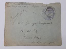 Militaria - Lettre D'un Soldat De L'armée Belge Du Lycée De Coutances - Cachet Correspondance Privée ... Lot190 . - 1914-18