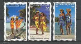 Timbre De Polynésie Française N 365/367 Neuf** - Polinesia Francese