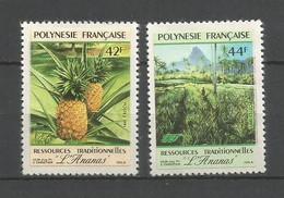 Timbre De Polynésie Française Neuf** N 374/375 - Polinesia Francese