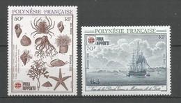 Timbre De Polynésie Française En Neuf ** N 393 / 394 - Polinesia Francese