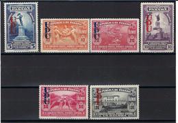 ⭐ Panama - Poste Aérienne - YT N° 20 à 25 B * - Neuf Avec Charnière - Surcharge UPU - 1936 ⭐ - Panama