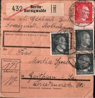 ! 1942 Berlin Borsigwalde Nach Geithain,  Paketkarte, Deutsches Reich, 3. Reich - Lettres & Documents