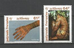 Timbre De Polynésie Française Neuf ** N 413/414 - Polinesia Francese