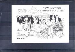 New Montico. Le Temple De La Danse, 66 Rue Pigalle Montmartre - Tarjetas De Visita