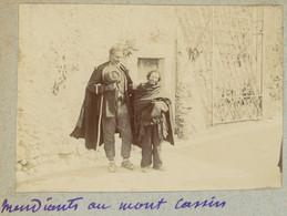 Mendiants Au Mont Cassin. Monte Cassino. Italie. Italia. 1908. Album De L'historien Gérard De Beauregard. - Plaatsen