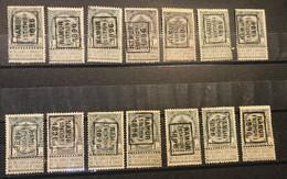 Preo CHARLEROI STATION Periode 1896-1901 GEKOZEN AFDRUKKEN - Handrolstempel - Roller Precancel - Préo à Roulette - Roller Precancels 1894-99