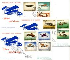 1962 SAN MARINO FDC Storia Dell'aeroplano - FDC