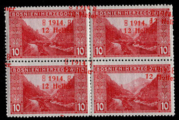 "BOSNIA-AUSTRIA,""1st WAR AID"", OPEN FOUR ""4"" (four In Year) 3rd TYPE, MNH/MH 1914 RARE!!!!!!!! - Bosnia And Herzegovina"