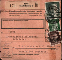 ! 1943 Berlin Charlottenburg Nach Helmsdorf, Zuckerfabrik,  Paketkarte, Deutsches Reich, 3. Reich - Lettres & Documents