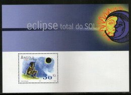 Angola 2001 Total Solar Eclipse Science Astronomy Sc 1193 M/s MNH # 5194 - Astronomia