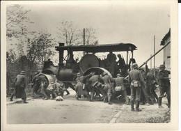 FRANCE.Lieu Inconnu: Photo 1940. Rouleau Compresseur. - Guerre, Militaire