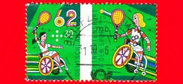 GERMANIA - Usato - 2015 - Spoirt - Disabili - Tennis In Sedia A Rotelle - Wheelchair  - 62+30 - Gebruikt