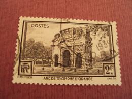 """1938   - Timbre Oblitéré N° 389  """"  Orange, Arc Triomphe """"    Net   0.50 - Frankreich"""