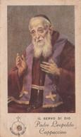SERVO DI DIO PADRE LEOPOLDO CAPPUCCINO CON RELIQUIA INDUMENTO IMPRIMATUR 1946 CHIUSO CM 6,5x11 DISCRETE CONDIZIONI - Godsdienst & Esoterisme