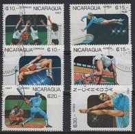 JO88/E51 - NICARAGUA 6 Val. Obl. Sports Divers - Nicaragua