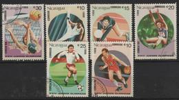 JO88/E52 - NICARAGUA 6 Val. Obl. Jeux Olympiques 1988 Séoul - Nicaragua