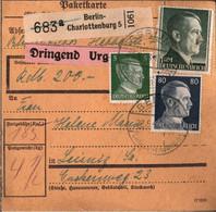 ! 1943 Berlin Charlottenburg  Nach Leisnig,  Paketkarte, Deutsches Reich, 3. Reich - Lettres & Documents