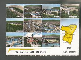 CP (67) En Avion Au Dessus De ... Bas-Rhin  -  Multi-vues - Unclassified