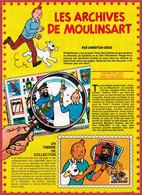 """Tintin Et Les Philatélistes. Timbre Belge De 1979. Les Faux Timbres """"Cote D'Or"""" Et Ceux De La Samaritaine. 1980. - Documenti Storici"""