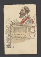 Themes Div-ref FF792-illustrateur Cercy -justice -avocat -plaidoirie *-mr Truchy Professeur De Droit -sciences Economie* - Andere Illustrators