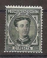España 0176 * Alfonso XII. 1876. Charnela - Nuevos