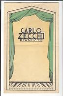 Carlo Zecchi  1903 - 1984  Pianiste  Brochure Env. 31 X 19  Couv. + 12 Feuillets Non Paginés  Musique - S.d. Vers 1936 - Musique