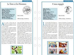 """FR 2020 / 2 FICHES INFO Recto Verso  """"  # TOUS ENGAGES + La Terre Et Les Hommes  """" - Francia"""