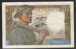 FRANCIA  1944   10 Fr  FDS/SPL - 1871-1952 Antichi Franchi Circolanti Nel XX Secolo