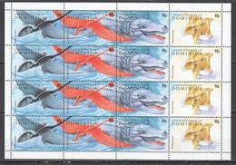 TT210 DOMINICA ANIMALS & FAUNA DINOSAURS 1SH(4SET) MNH - Prehistóricos