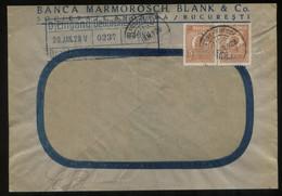 S1330 Rumänien, Firmen Briefumschlag Mit Perfin , Lochung ,gebraucht Bukarest - Berlin 1928, Bedarfserhaltung. - 1918-1948 Ferdinand, Charles II & Michael