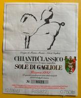 16013 - Chianti Classico Sole Di Gagiole Dessin De Marino Marini - Art