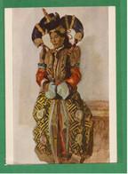 0559 Mongolia A Girl In An Old Folk Costume Artist V. Efanov USSR Edition 1955 - Mongolia