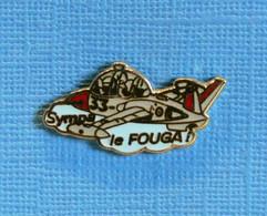 1 PIN'S //  ** SYMPA LE FOUGA ! / LE FOUGA CM 170 MAGISTER ** . (B.H.T) - Airplanes