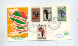 Lettre Fdc  1961 Journee Afrique - Tunisia