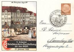 Deutsches Reich Ganzsache Briefmarken Ausstellung Erfurt Sonderstempel 1938 GA DR - Lettres & Documents
