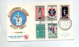Lettre Fdc  1960 Jamboree Scout - Tunisia