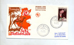 Lettre Fdc  1960 Fete Nationale - Tunisia