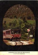 CHEMINS DE FER DE PROVENCE  Le Tunnel De Chabrières  TRAIN  Recto Verso - Trains