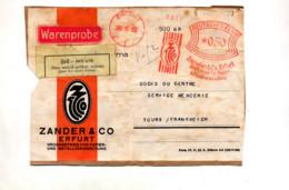 Devant De Lettre Flamme Ema Erfurt 1933 Papier Metal Zander - Lettres & Documents