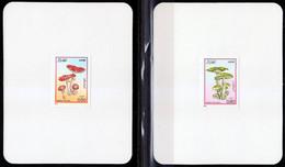 Algeria-1983, Mi.827-830, Mushrooms, 4 Deluxe Sheets, MNH** - Mushrooms