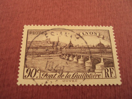 """1939   - Timbre Oblitéré N° 450     """"   Lyon, Pont Guillotière       """"         Net    0.40 - Frankreich"""