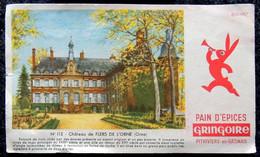 Ancien Buvard Pain D'épices GRINGOIRE - N° 113 Château De FLERS DE L'ORNE (Orne) - Gingerbread